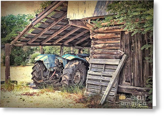 Old Barn And Tractor Greeting Card