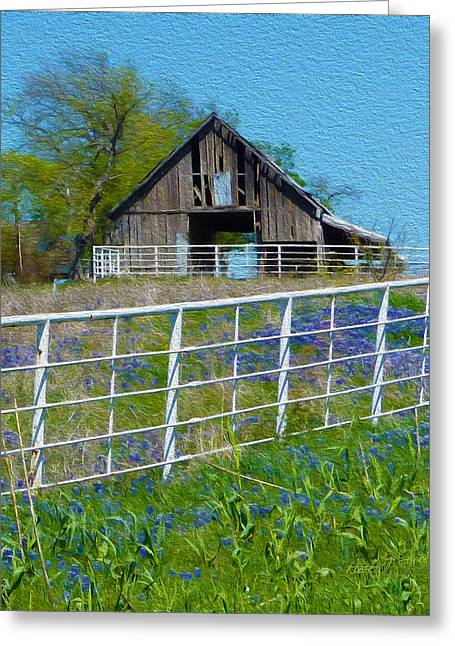 Old Barn - Another Spring Greeting Card