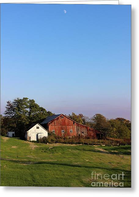 Old Barn At Sunset Greeting Card