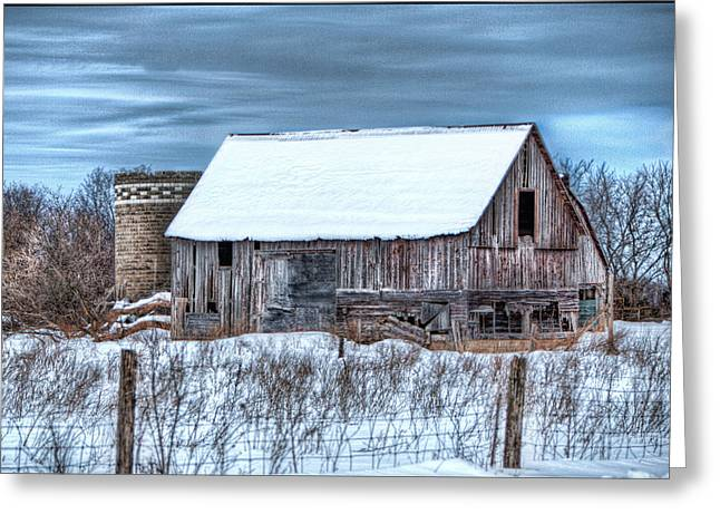 Old Barn Greeting Card by David  Parry