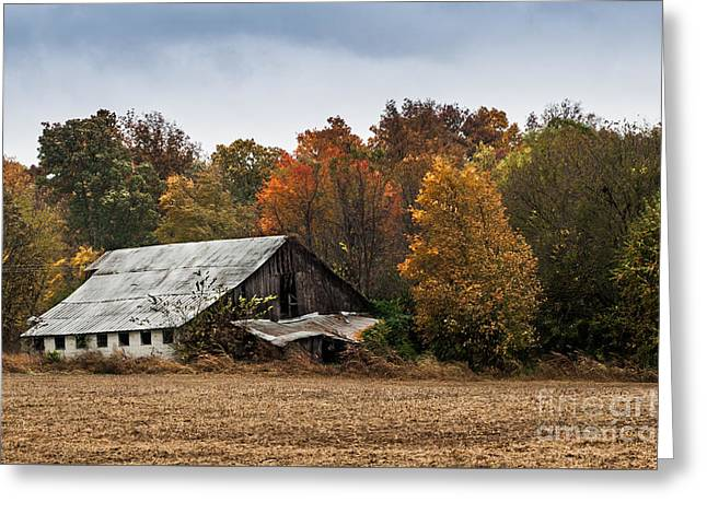 Greeting Card featuring the photograph Old Barn by Debbie Green