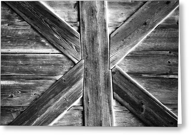 Old Barn Door Greeting Card by Miguel Winterpacht