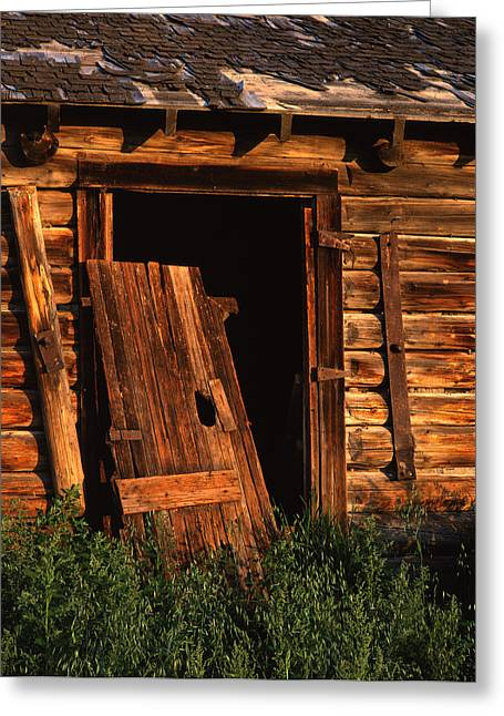 Old Barn Door Greeting Card by Mike Norton