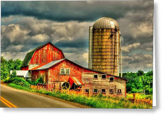 Old Barn Greeting Card by Ed Roberts