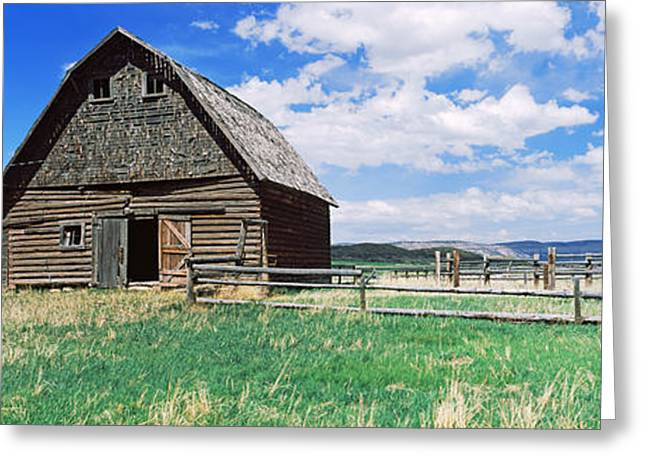 Old Barn In A Field, Colorado, Usa Greeting Card
