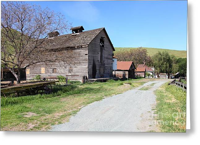 Old Barn In Antioch California 5d22271 Greeting Card by Wingsdomain Art and Photography
