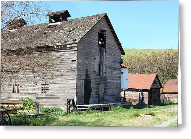 Old Barn In Antioch California 5d22272 Greeting Card by Wingsdomain Art and Photography