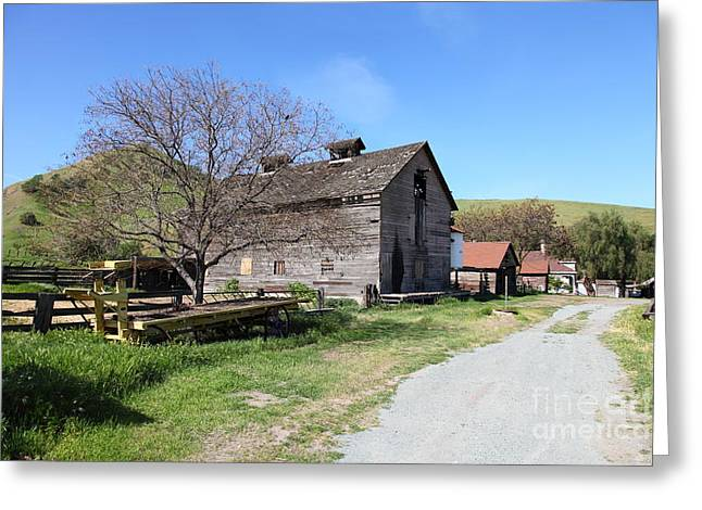 Old Barn In Antioch California 5d22274 Greeting Card by Wingsdomain Art and Photography
