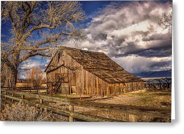 Old Barn In Franktown Greeting Card by Janis Knight