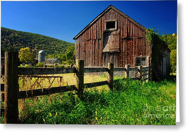 Old Barn In Kent Connecticut Greeting Card by Sabine Jacobs