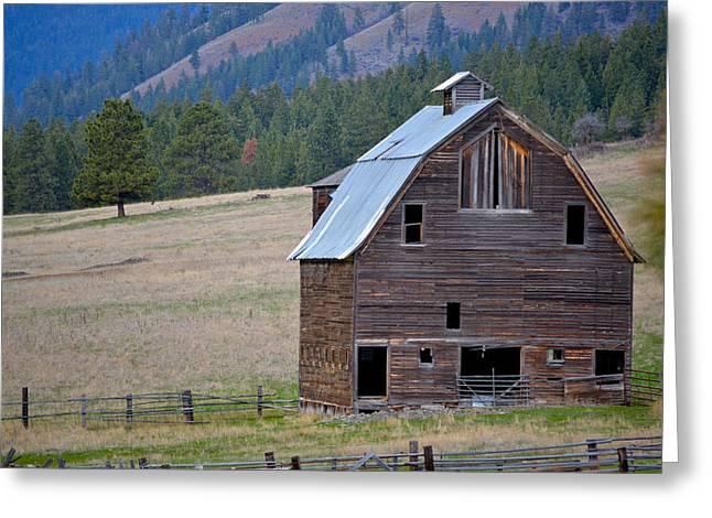 Old Barn In Washington Greeting Card