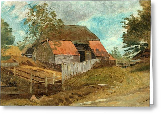 Old Barn, Lionel Constable, 1828-1887 Greeting Card by Litz Collection
