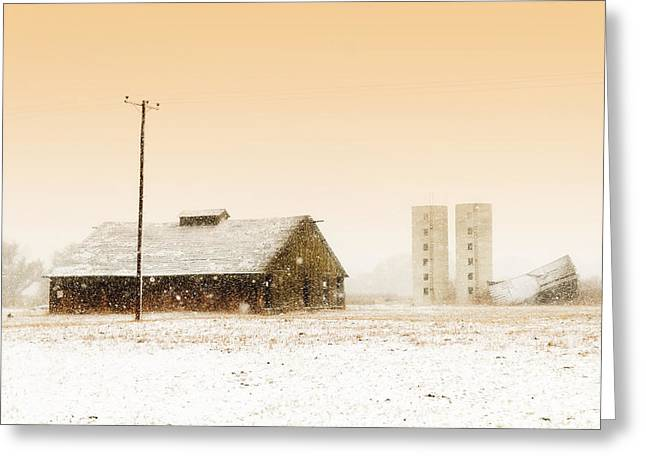 Old Barn On Highway 6 Greeting Card