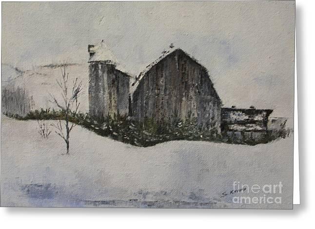 Old Barn Greeting Card by Steve Knapp