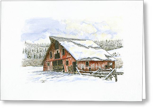 Old Barn Up Erickson's Road Greeting Card by Kenneth or Susan Posselt