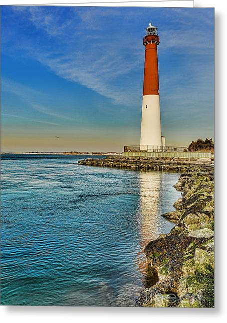 Old Barney At Sunrise - Barnegat Lighthouse Greeting Card by Lee Dos Santos
