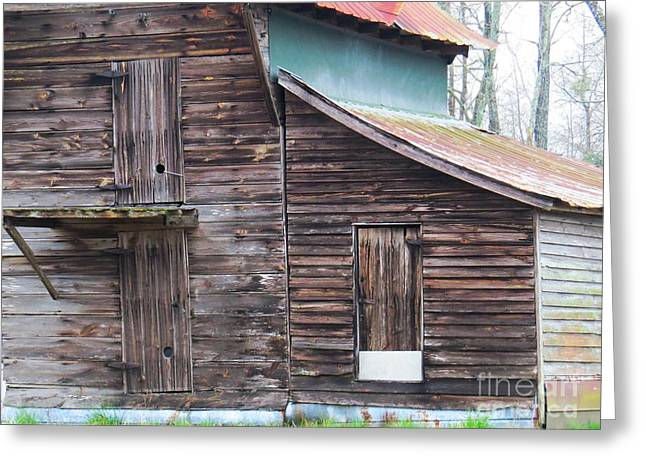 Old Barnwood Greeting Card by Scott Cameron