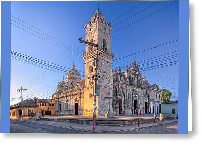 Old Baroque Beauty Of Granada - Iglesia La Merced Greeting Card by Mark E Tisdale