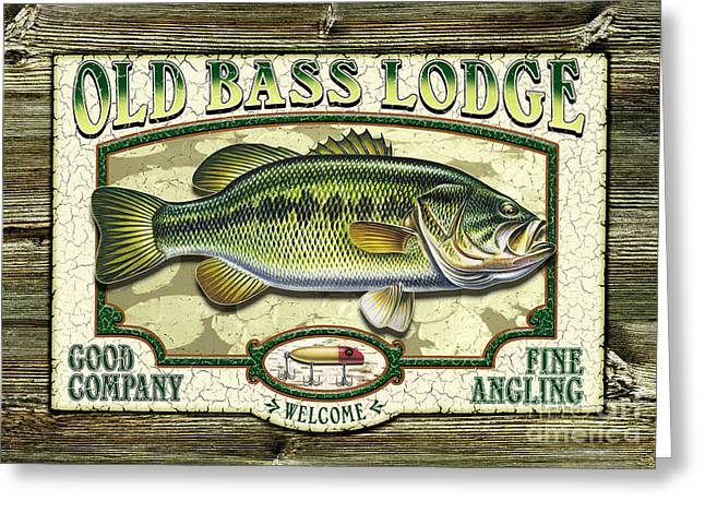 Old Bass Lodge Greeting Card