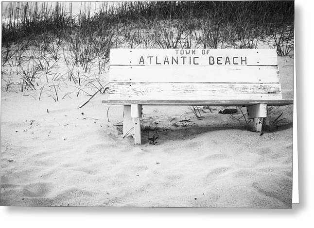 Old Beach Bench Greeting Card