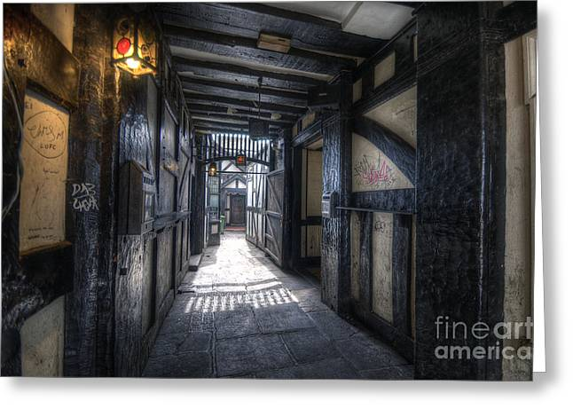 Old Bell Alley Greeting Card by Yhun Suarez