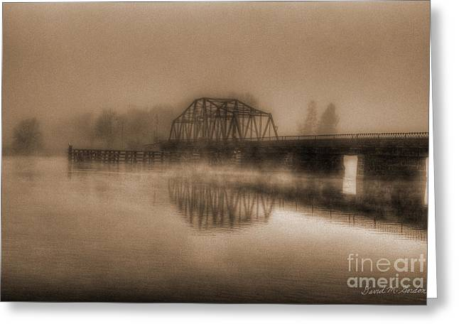 Old Berkley Dighton Bridge Greeting Card
