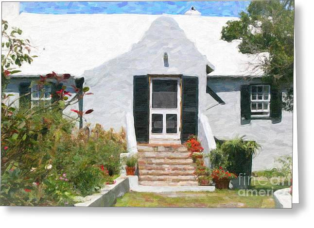 Greeting Card featuring the photograph Old Bermuda Home by Verena Matthew