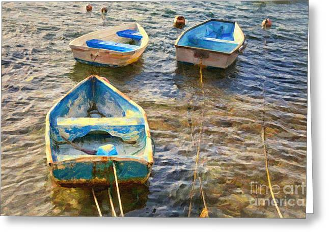 Greeting Card featuring the photograph Old Bermuda Rowboats by Verena Matthew