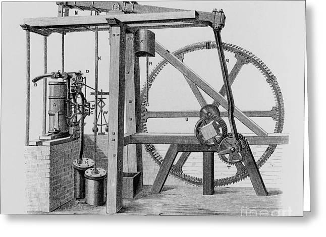 Old Bess Steam Engine Greeting Card by SPL and Science Source