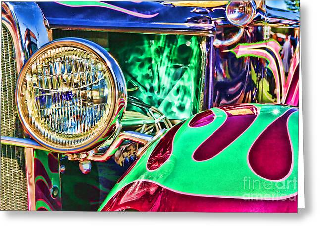 Old Betty Ford Vintage Car By Diana Sainz Greeting Card