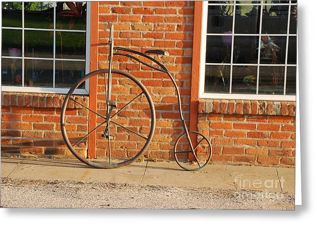 Greeting Card featuring the photograph Old Bike by Mary Carol Story