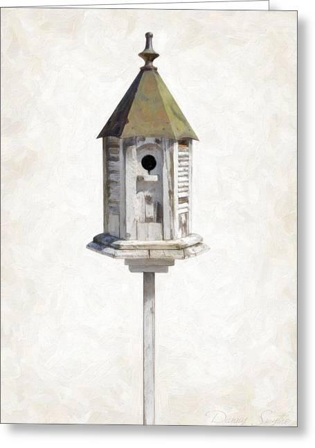 Old Birdhouse Greeting Card