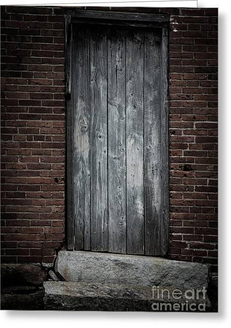 Old Blacksmith Shop Door Greeting Card
