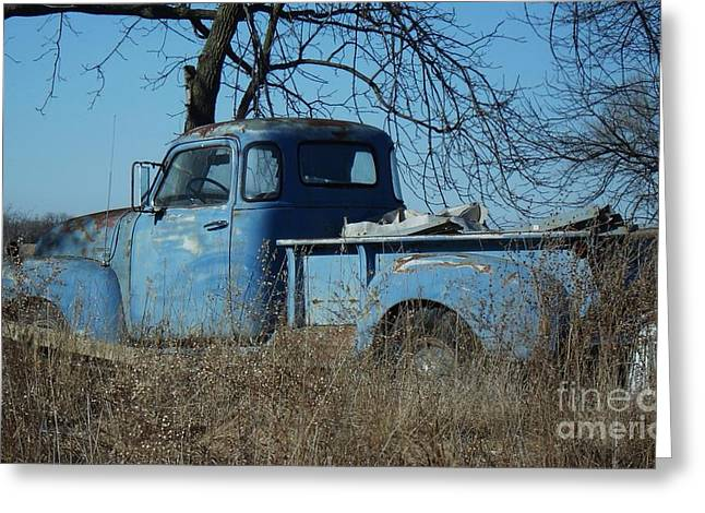 Old Blue  Greeting Card by J L Zarek
