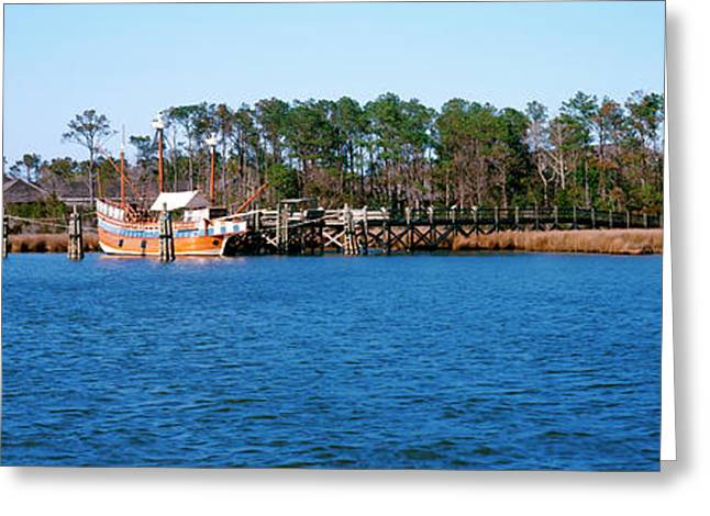 Old Boat At Coast, Roanoke Marshes Greeting Card