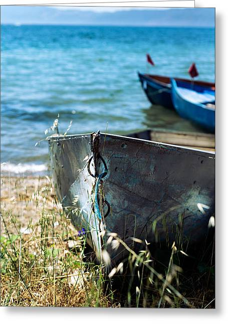 Old Boat  Greeting Card by Ivan Vukelic