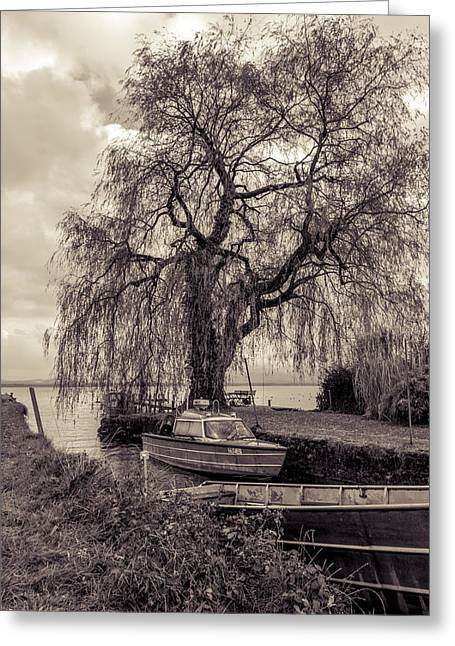 Old Boat Greeting Card by Marie Sullivan