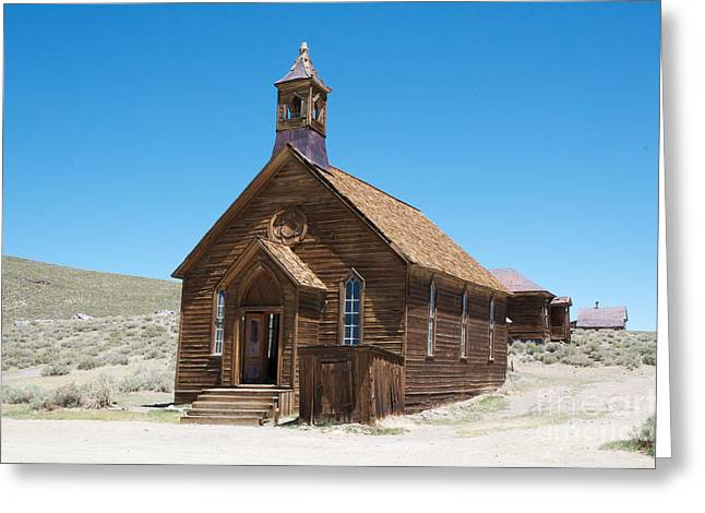 Greeting Card featuring the photograph Old Bodie Church by Vinnie Oakes