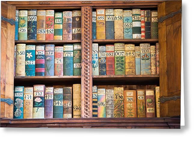 Old Books In Prague Greeting Card by Matthias Hauser
