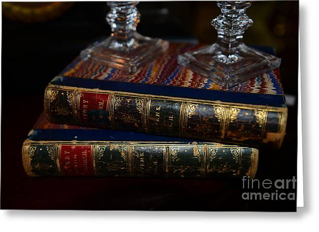 Old Books Greeting Card by Paul Ward