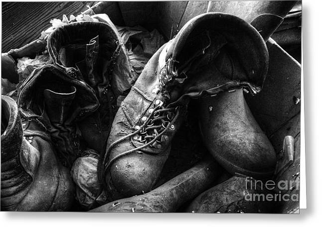 Old Boots Greeting Card by Bob Christopher