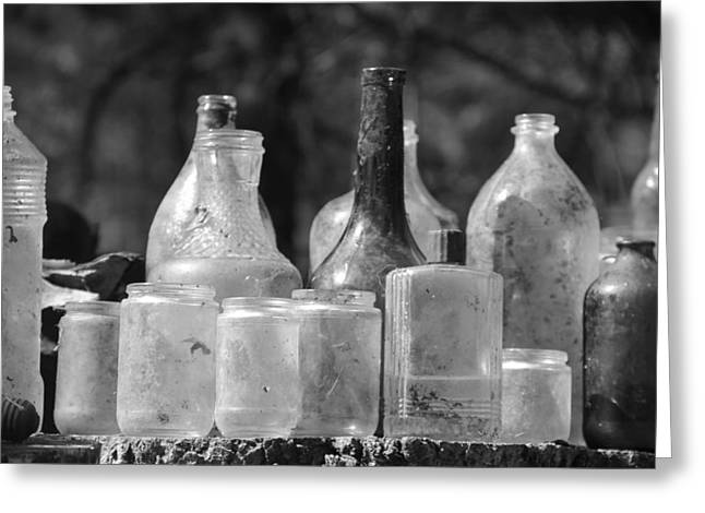 Old Bottles Two Greeting Card by Sarah Klessig
