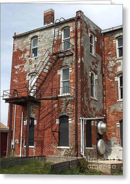 Old Brick Building In Downtown Montezuma Iowa - 03 Greeting Card by Gregory Dyer