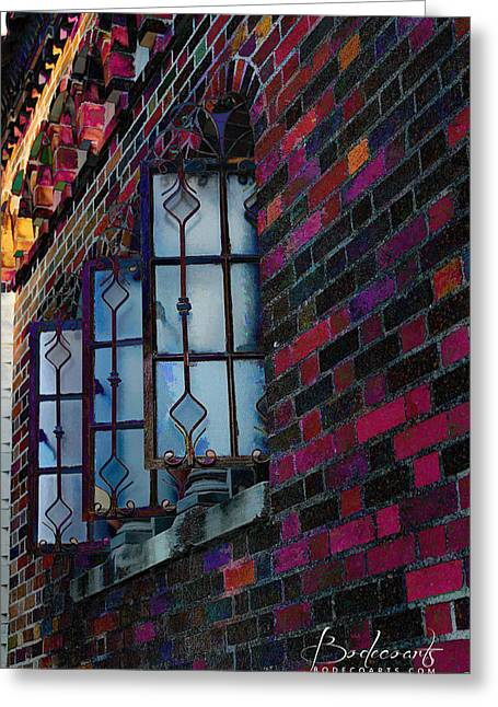 Old Brick Renewed Greeting Card by Robin Lewis