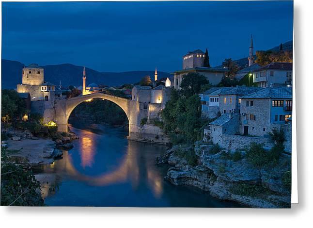 Old Bridge In Mostar Greeting Card by Ayhan Altun