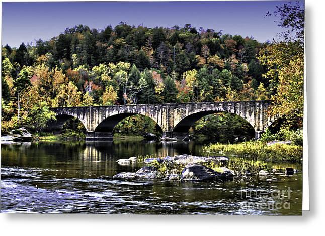 Old Bridge Greeting Card by Ken Frischkorn