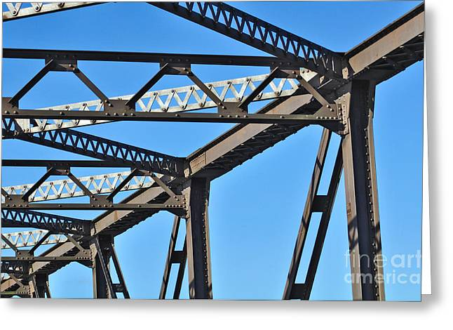 Old Bridge Structure Greeting Card