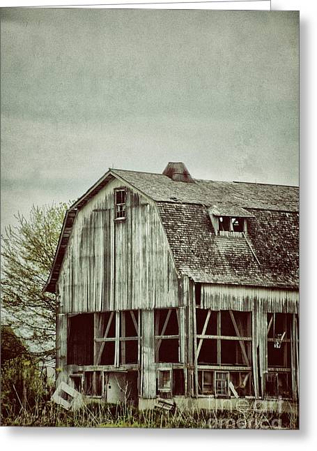 Old Broken Barn Greeting Card