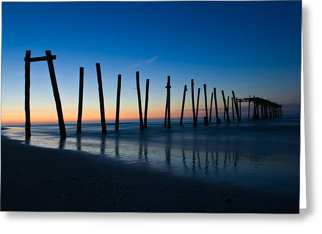 Greeting Card featuring the photograph Old Broken 59th Street Pier by Louis Dallara