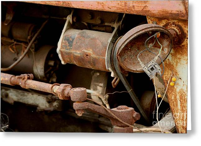 Old Broken Tractor Greeting Card